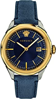 Versace Glaze Quartz Blue Dial Men's Watch VERA00218