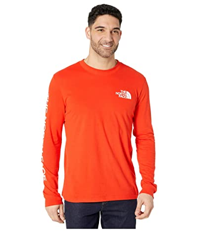 The North Face Long Sleeve TNFtm Sleeve Hit T-Shirt (Fiery Red) Men