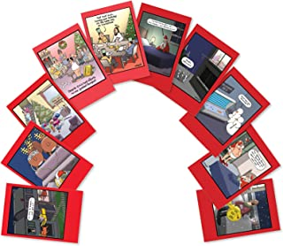 10 Assorted 'Whyatt's World Christmas' Boxed Funny Christmas Cards with Envelopes - Featuring a Variety of Tim Whyatt's Best Art Work - Merry Xmas, Happy Holidays and Seasons Greetings A5635XSG-B1x10