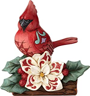 Enesco Jim Shore Heartwood Creek Winter Wonderland Cardinal Figurine, 5.51