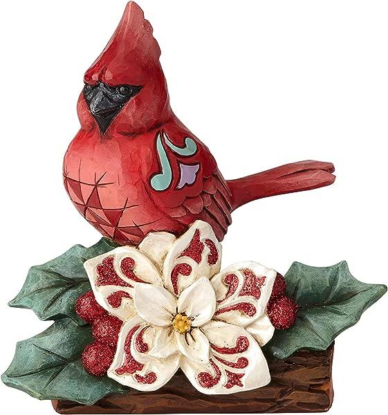 Enesco Jim Shore Heartwood Creek Winter Wonderland Cardinal Figurine 5 51 Multicolor