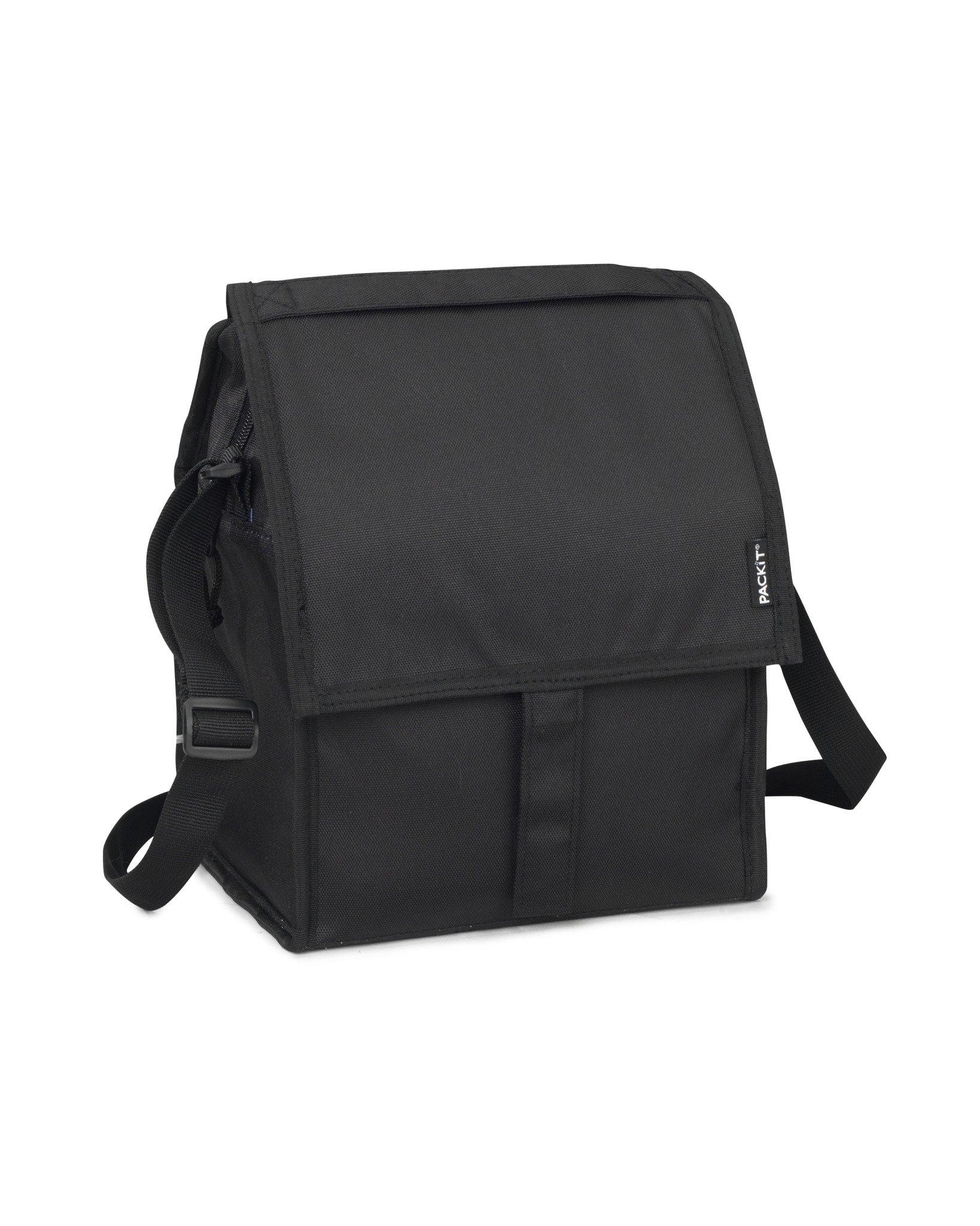 PackIt Bolsa para Almuerzo congelable, Black, 17x22x25 cm: Amazon.es: Hogar