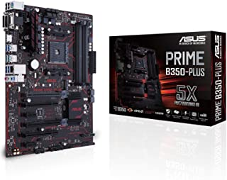 Asus 2 90MB0TG0-M0EAY0 - Placa Base (Prime B350-Plus, AMD, Am4, B350, 4ddr4, 64gb, Vga+Dvi+Hdmi, Gblan, 6sata3, 2usb3.1)