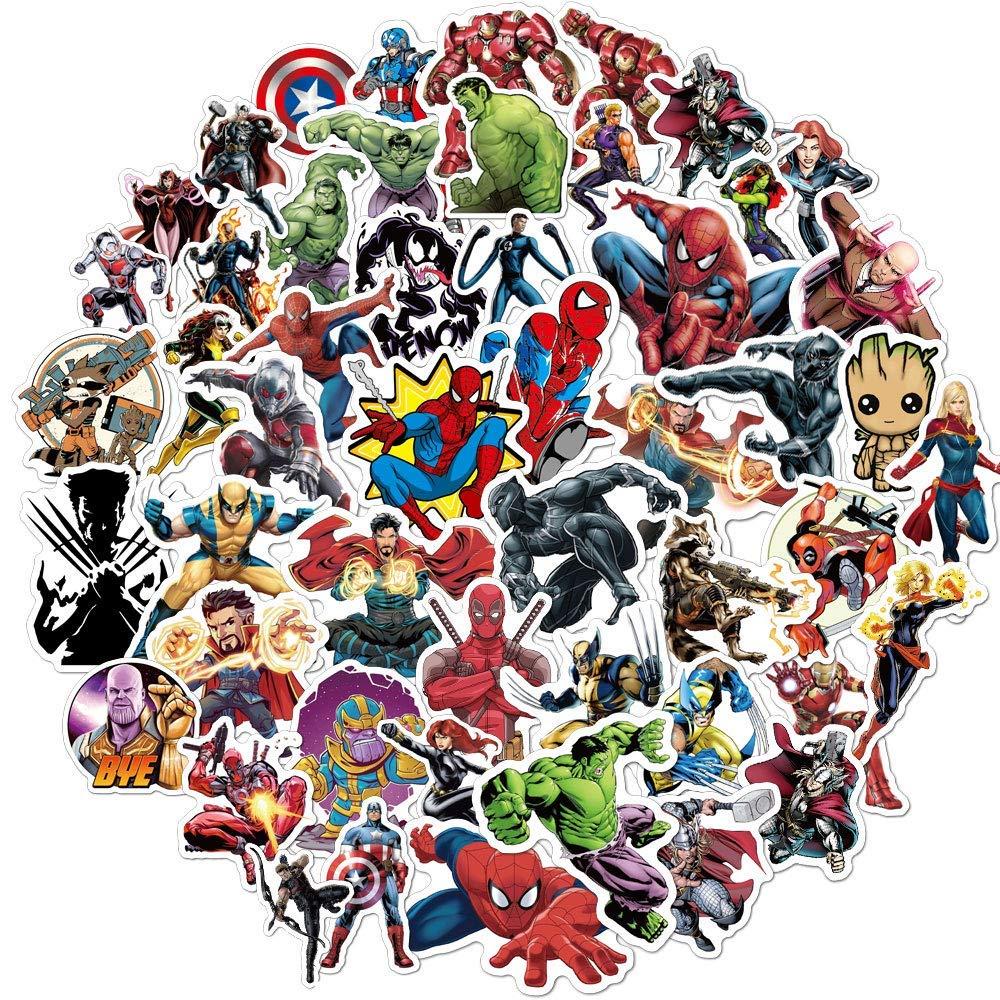 Comic Book Superhero Cartoon Vinyl Sticker Comic Decal