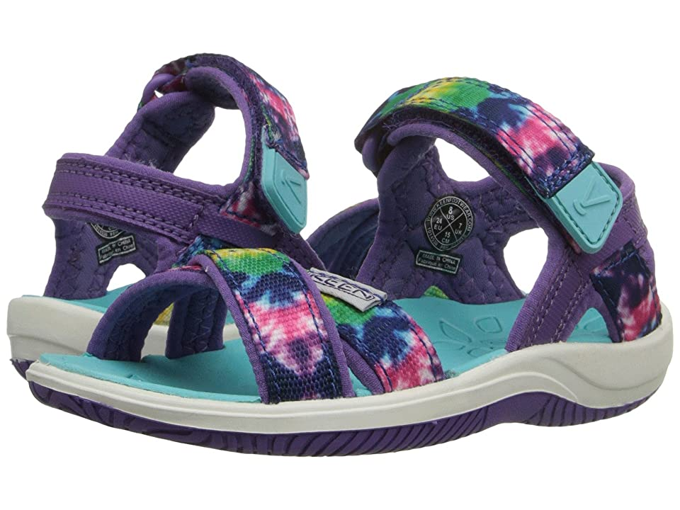 Keen Kids Phoebe (Toddler/Little Kid) (Navy Tie-Dye) Girls Shoes
