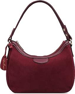 Best suede burgundy handbag Reviews