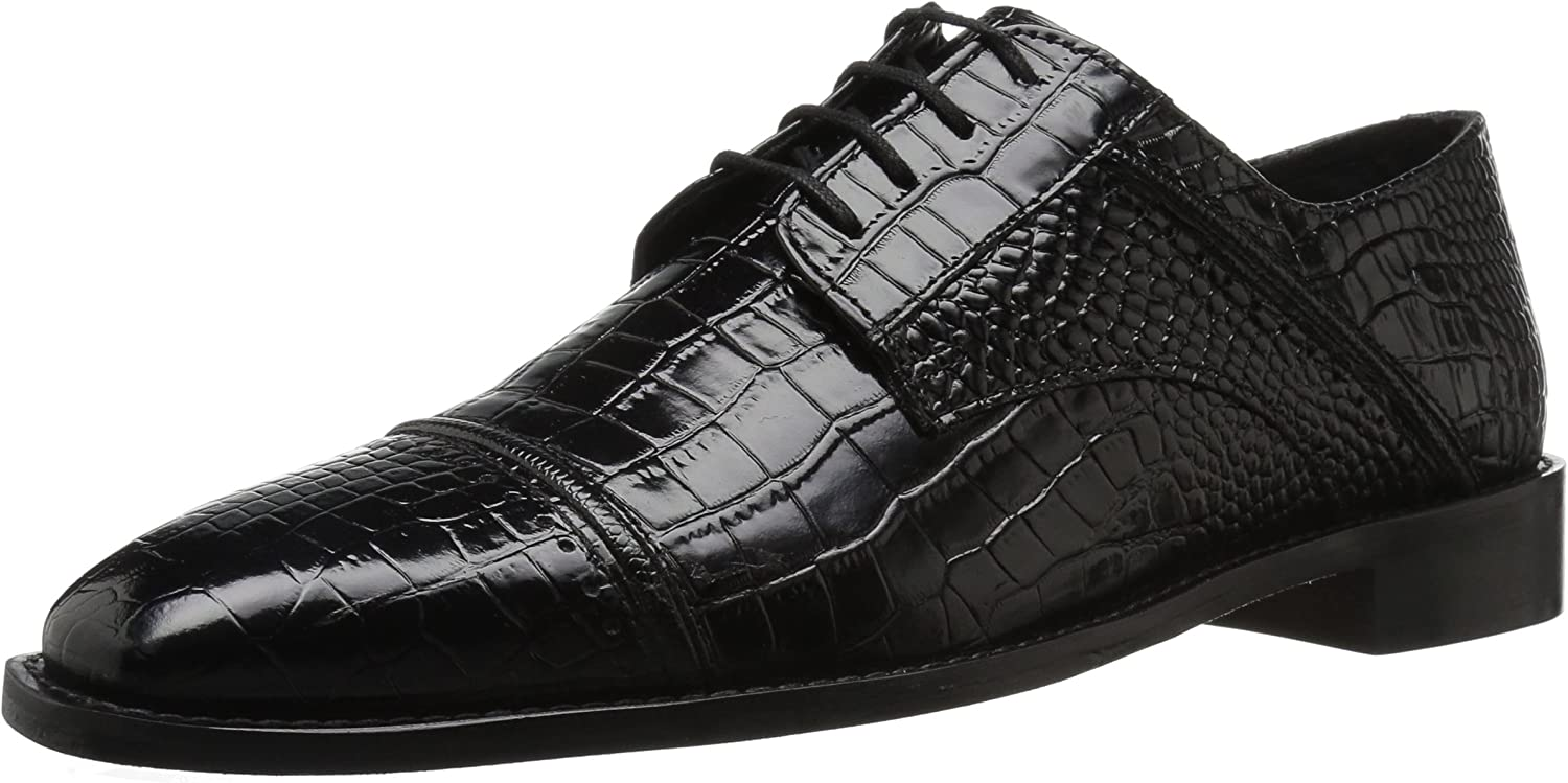 Stacy Adams Men's Raimondo Cap-Toe Croc-Print Lace-up Oxford