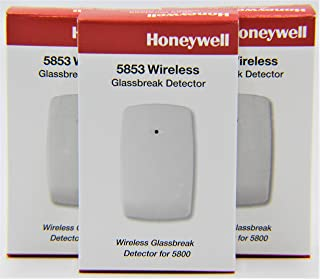 3 Pack of Honeywell 5853 Wireless Glassbreak Detector W/Mounting Tape