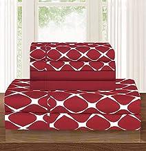 Elegant Comfort ™ Luxury Softest 6-Piece Sheet, Wrinkle Resistant Milano Trellis Pattern 1500 Thread Count Egyptian Qualit...
