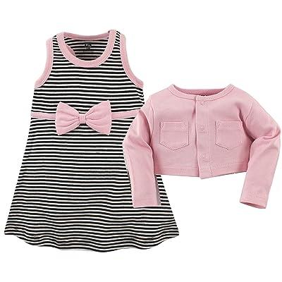 Hudson Baby Cotton Dress and Cardigan Set (Infant/Toddler)