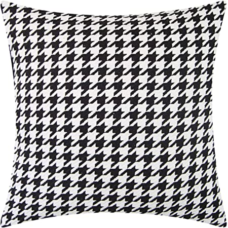Amazon Com Homey Cozy Jacquard Cotton Throw Pillow Cover Navy Blue Houndstooth Modern Silk Plaid Textured Sofa Couch Decorative Pillow Case 20x20 Cover Only Home Kitchen