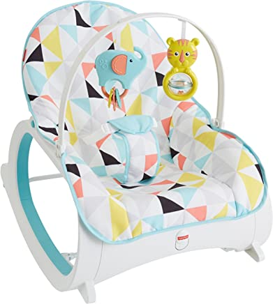 Fisher-Price Infant-to-Toddler Rocker, Yellow/Blue/White / Grey