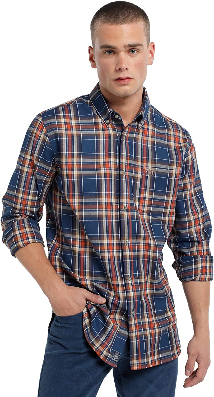 Bendorff - Camisa de Cuadros con Bolsillo para Hombre   De ...
