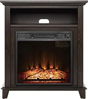 Fireplace - Fireplace Logs - Electric Fireplace Freestanding Brown Wooden Mantel Firebox Heater 3D Flame LED Color- Electric Space Heater Indoor - Fire Place Decor Living Bedroom Study Room Kitchen