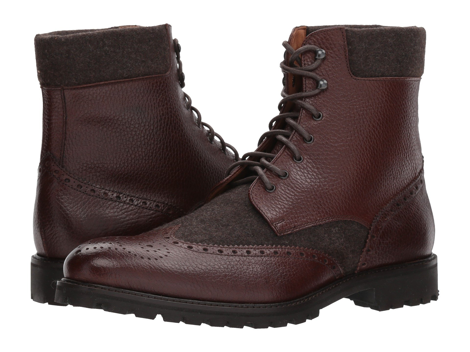 MASSIMO MATTEO Mix Media Wing Boot, Chocolate