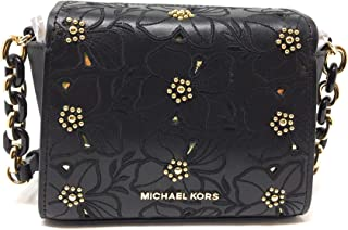 03bb4e7d61 Michael Kors Sofia Small Leather Perforated Floral Studded Crossbody Purse