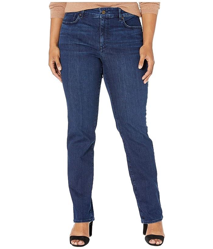 NYDJ Plus Size Plus Size Marilyn Straight in Denslowe (Denslowe) Women's Jeans