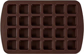 Wilton 24-Cavity Silicone Brownie Squares Baking Mold, Brown (2105-4923)