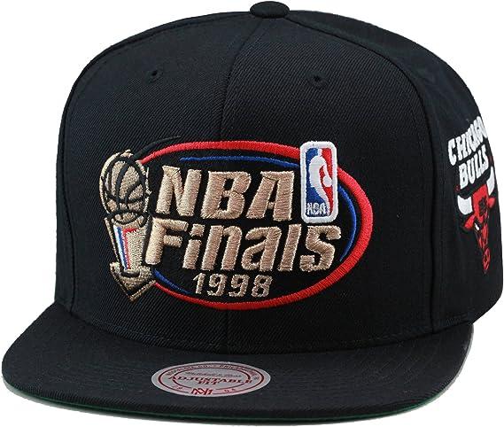 Mitchell Ness Men S Chicago Bulls 1998 Nba Finals Commemorative Snapback Hat One Size Black Baseball Caps Amazon Canada