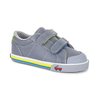 See Kai Run Kids Waylon (Toddler/Little Kid) (Gray Leather) Boy