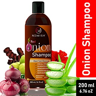 Newish Red Onion Shampoo For Hair Regrowth and Hairfall Control (Sls & Paraben Free) For Men and Women, 200 ml