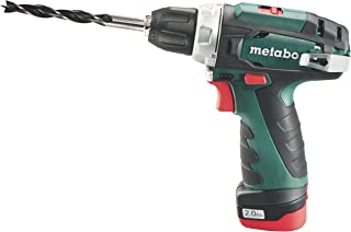 Metabo PowerMaxx BS - cordless combi drills (Lithium-Ion (Li-Ion), 10.8 V, 2 Ah, 800 g, Black, Green)