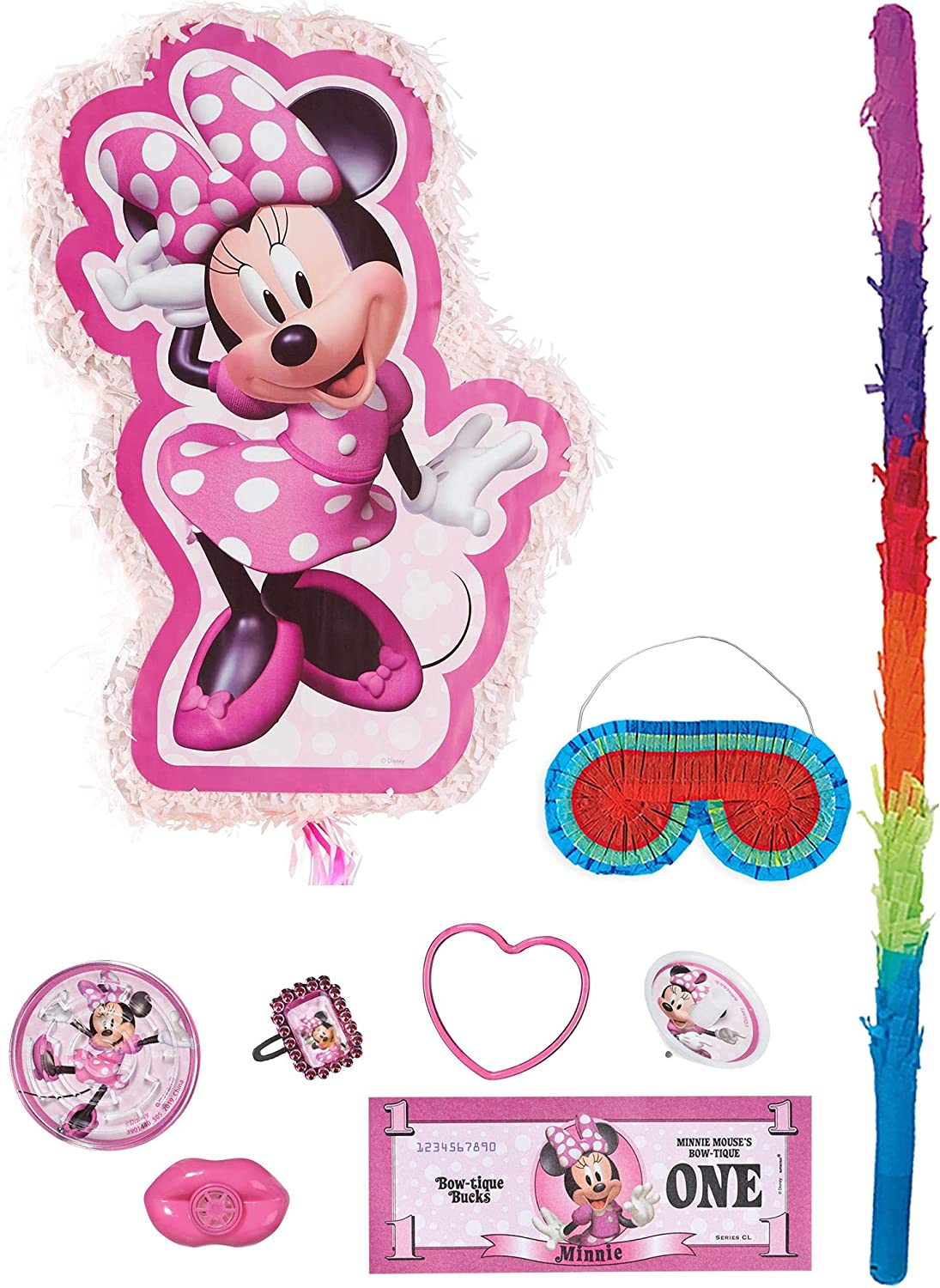 Party City Pull String Minnie Pinata Forever Manufacturer direct delivery Max 81% OFF Supplies Mouse with