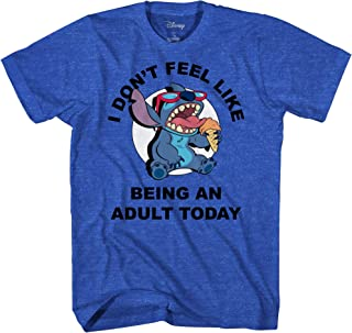 Disney Lilo and Stitch Don't Feel Like Being an Adult Tee Funny Humor Disneyland Graphic Adult T-Shirt
