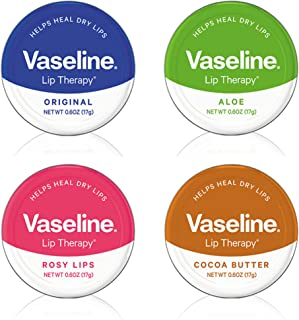 Vaseline Redefined Vintage Lip Therapy Tins, Variety Pack, 0.7 Oz (20 Gms) Each