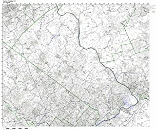 Working Maps Bucks County, Pennsylvania PA Zip Code Map Not Laminated