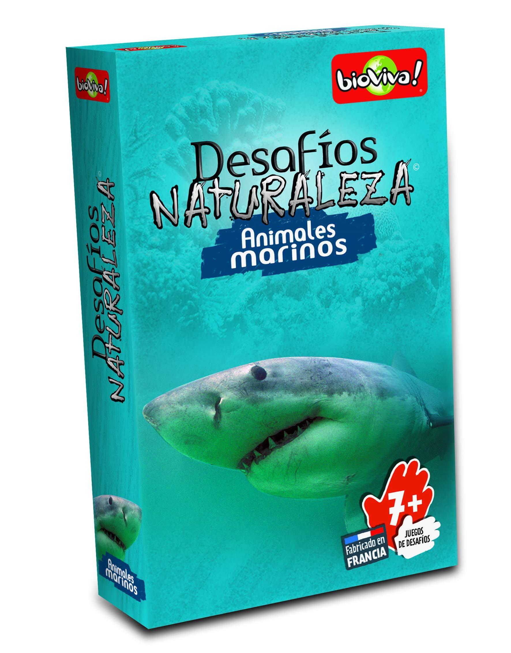 Bioviva- Juego de cartas Desafíos Naturaleza Animales Marinos (Asmodee 306) , color/modelo surtido: Amazon.es: Juguetes y juegos