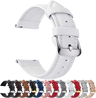 12 Colors for Quick Release Leather Watch Band, Fullmosa Axus Genuine Leather Watch Strap 14mm, 16mm, 18mm, 20mm, 22mm or ...