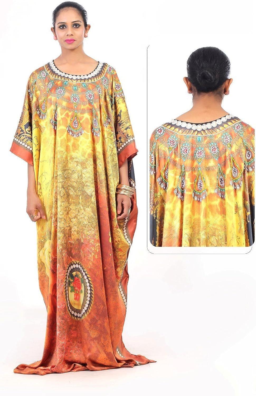 Lenna New Silk Kaftan Look & Feel Embroider Crystal Beaded Kaftan Beach wear Caftan dress10