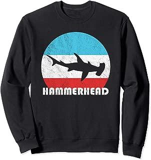 Hammerhead Shark Vintage Retro Silhouette Gift Sweatshirt