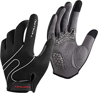 Anti-slip Cycling Gloves Shockproof Full Finger MTB Breathable Mitts Cycle Y9X7