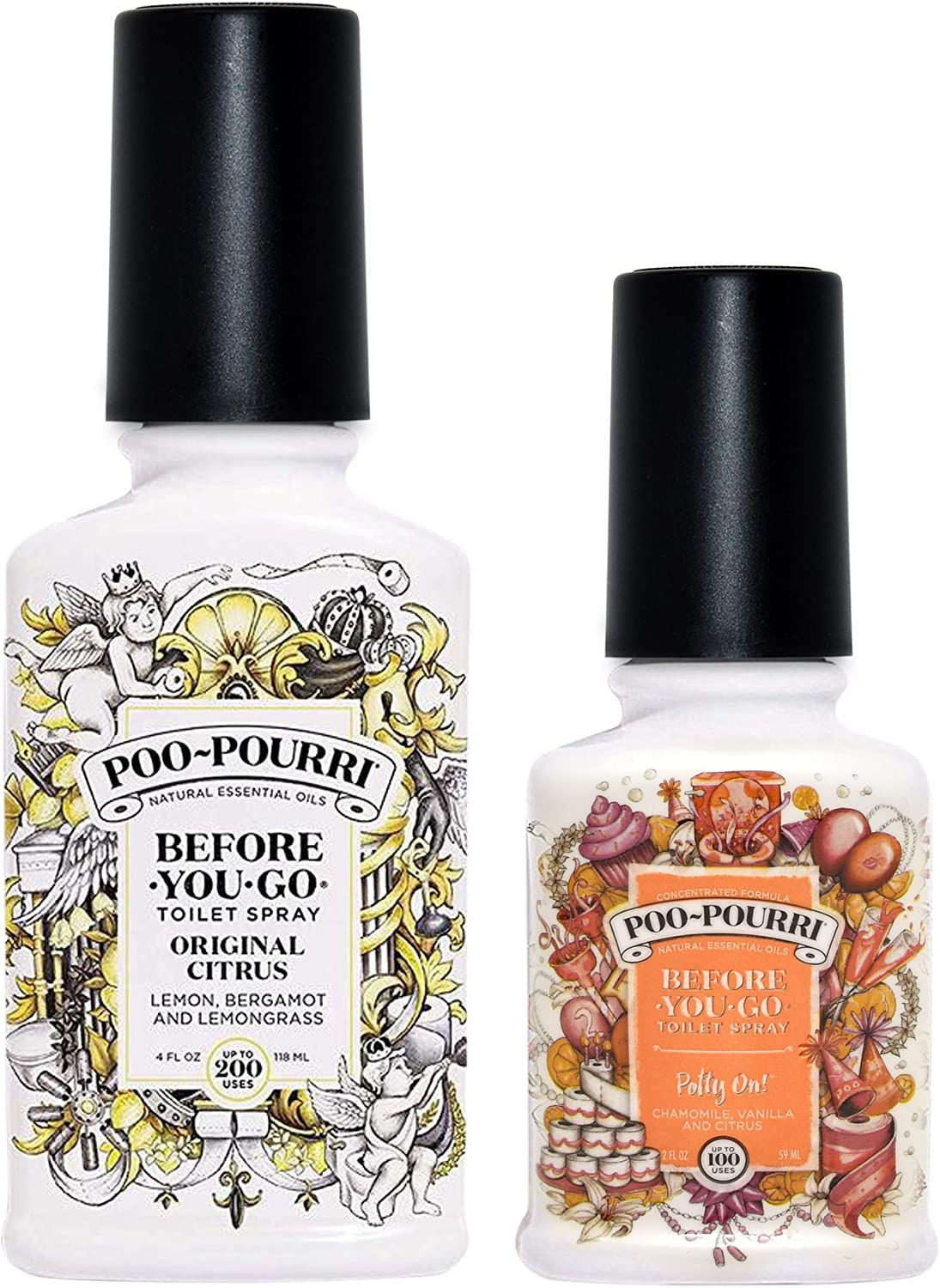 Poo-Pourri Original Citrus 4 Excellence Ounce and Before 2 Potty Y On gift
