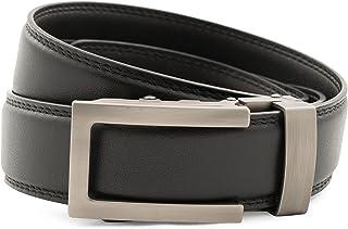 "Anson Belt & Buckle - Men's 1.25"" Traditional Gunmetal Buckle with Ratchet Belt Strap"