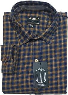 Sand Blue Brown Checks Shirt