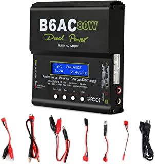 Lipo Charger,Battery Charger Balance Charger Discharger with Power Supply AC/DC for LiPo/Li-ion/Life Battery (1-6S),NiMH/NiCd (1-15S),PB (2-24V),Smart Battery (RC Battery Charger)