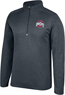 Top of the World NCAA Men's Dark Heathered Poly Half Zip Pullover
