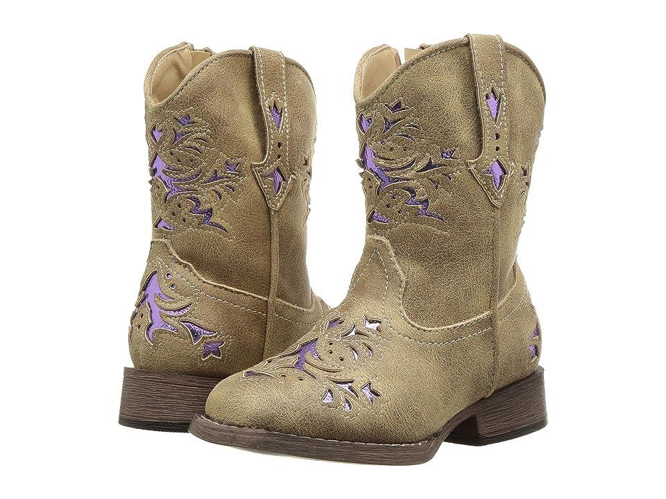 Roper Kids Lola (Toddler) (Vintage Tan Vamp & Shaft) Cowboy Boots