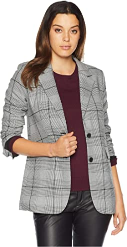 Notch Collar Bold Glenn Plaid Blazer