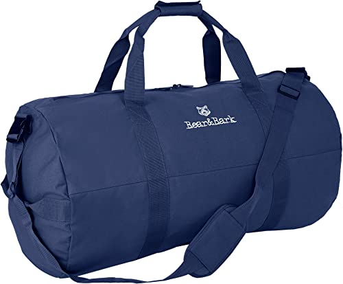 """popular Medium Duffle Bag 2021 – Blue 32""""x18"""" - high quality Canvas Military and Army Cargo Style Duffel Tote for Men and Women– Gym, Hiking and Storage Shoulder Bag sale"""