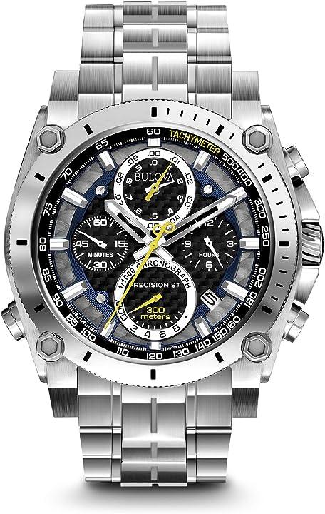 Orologio bulova precisionist 96b175 - orologio da polso uomo, acciaio inossidabile