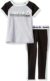 Reebok Girls' Short Sleeve Printed T-Shirt and Pull-on Legging Set