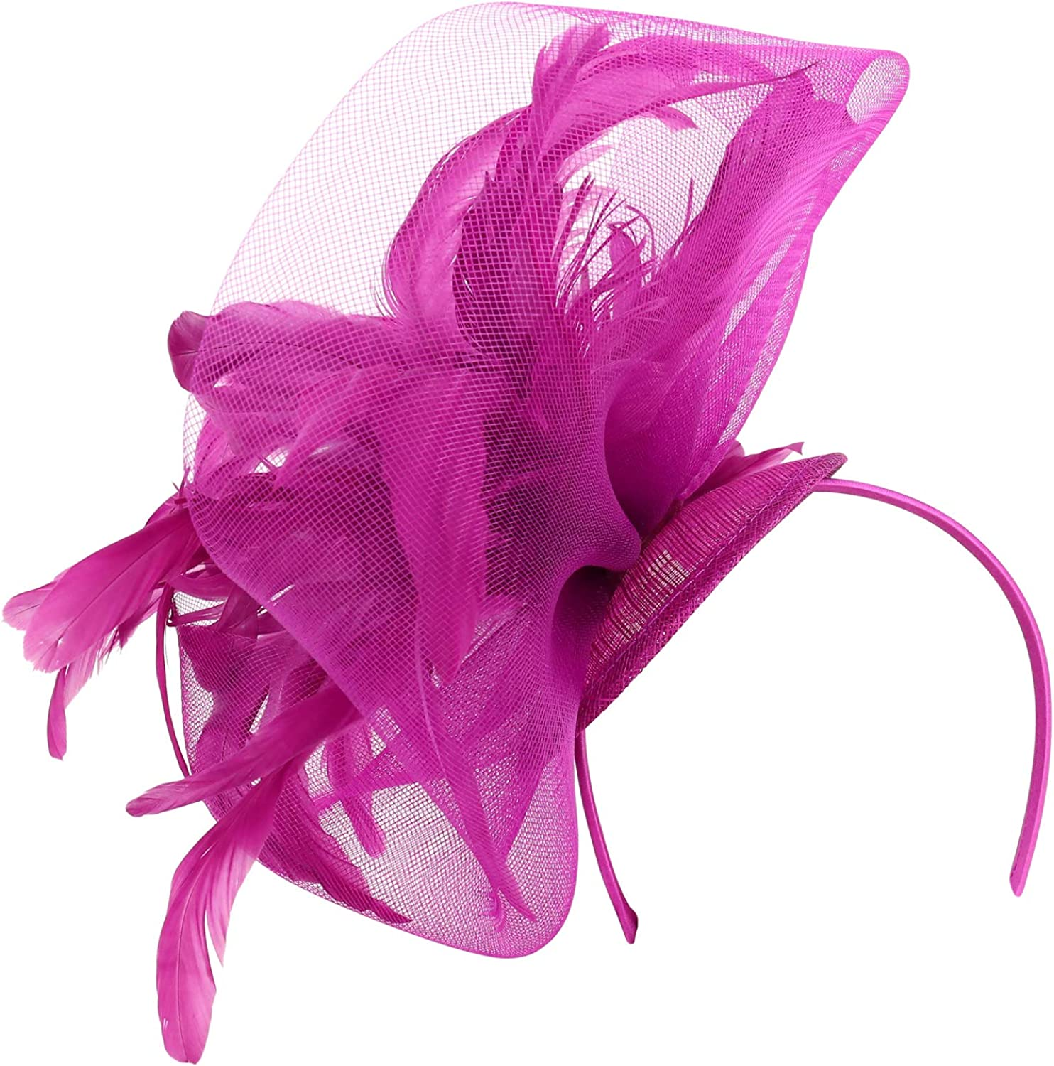 Trendy Apparel Shop OFFicial store Feathers Mesh Party Net Fas Cocktail Sinamay Time sale