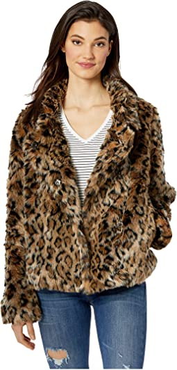 190872c2f787 Just cavalli faux fur collar double breasted peacoat | Shipped Free ...