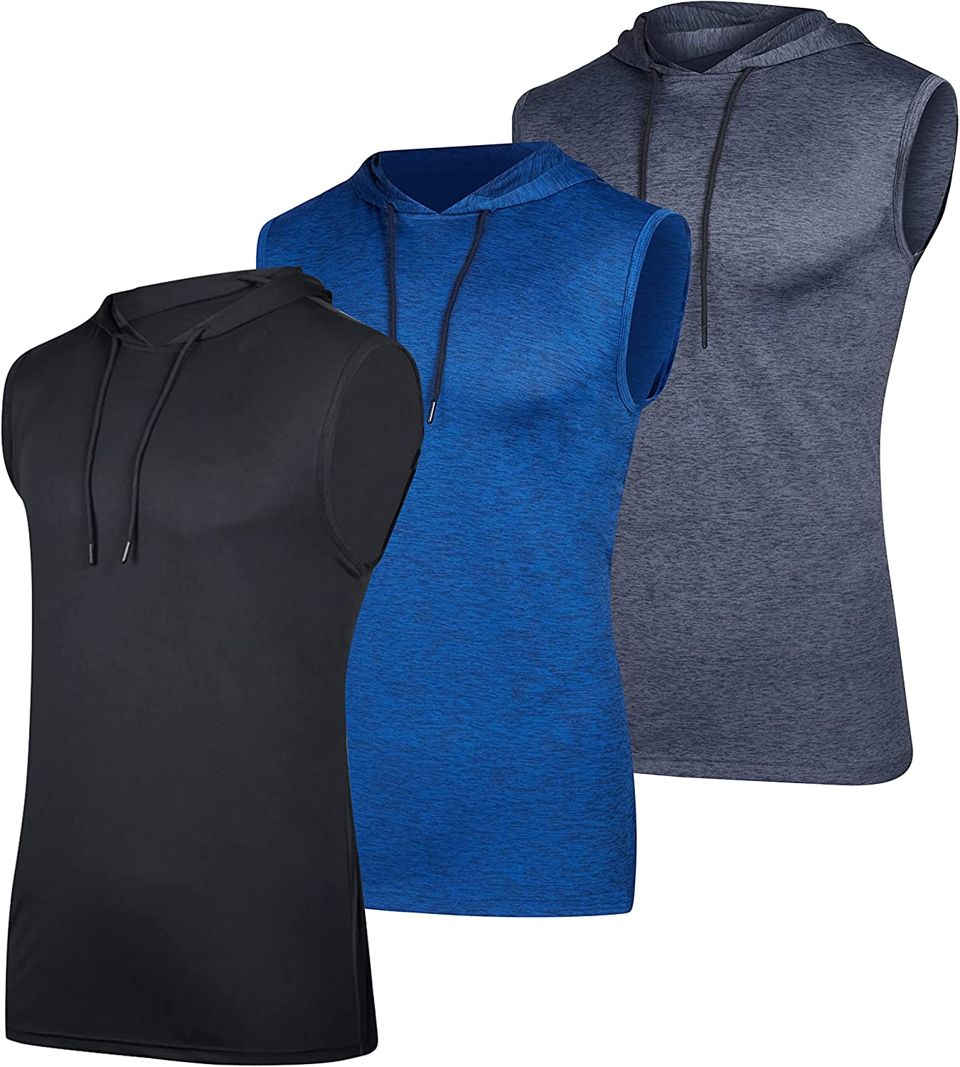 3 Pack: Selling rankings Men's Dry-Fit Active Hooded - Slee Workout El Paso Mall Tank Top