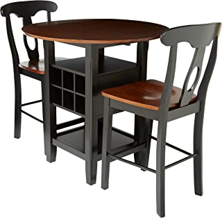 Homelegance Atwood 3-Piece Counter Height Dining Set, Black/Espresso