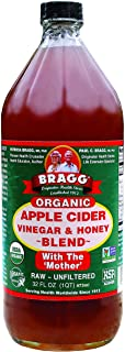 Bragg Organic Apple Cider Vinegar Blends, Honey Blend, 16 Ounce